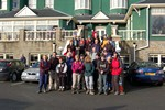 Walkers Gathering outside the Llandrindod Wells Hotel