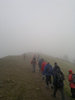 Group B - progress along the Malvern Ridge, mist assured.