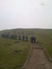 Group B - snaking up Millenium Hill, 33 attended.