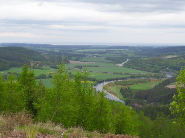 Looking north down the Spey Valley towards the Moray Firth