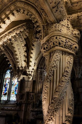 Inside Rosslyn Chapel, Rosslyn Chapel Way