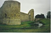Pevensey Castle and Moat Photograph Colin Smith