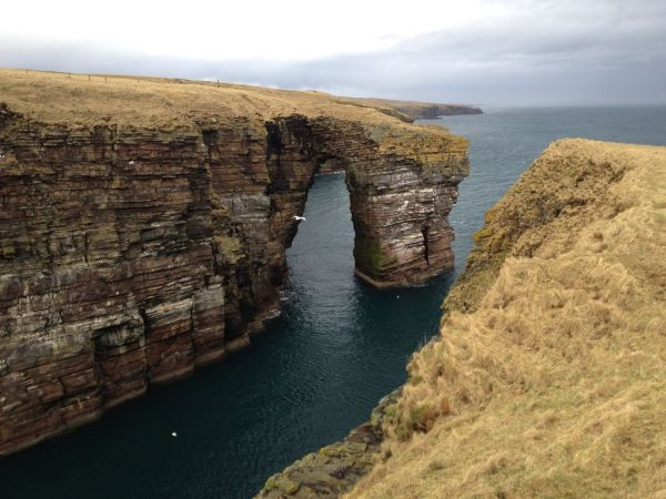 Sea arch south of Wick