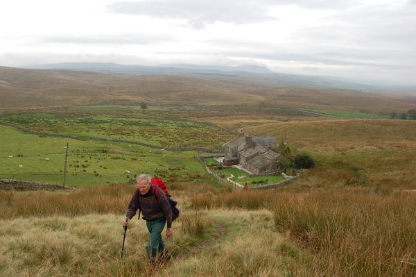 Dales Way, Pen-y-Ghent in background