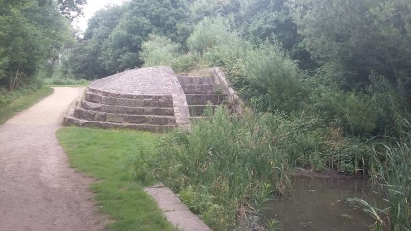 Lock of the abandoned Hollingwood Canal at Daisy Nook Country Park