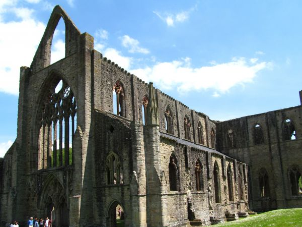 The medieval ruins of Tintern Abbey, Wye Valley