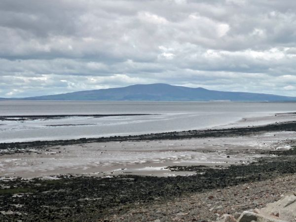 Looking west to Criffel from the Solway Firth