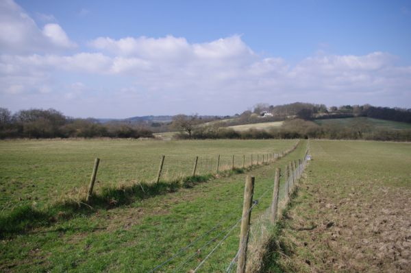 The Dollis Valley Greenwalk ends with views across London's green belt into Hertfordshire