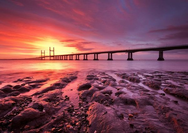 The Monmouthshire Way passes underneath the M4 Second Severn Crossing.