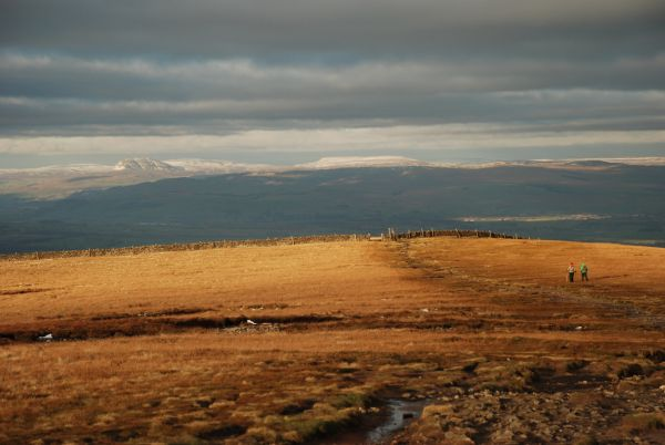 The summit of Pendle Hill in winter
