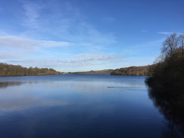 Anglezarke Reservoir at the foot of the West Pennines