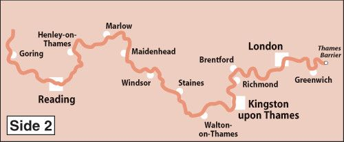 Heron Maps - River Thames with the Thames Path Side 2