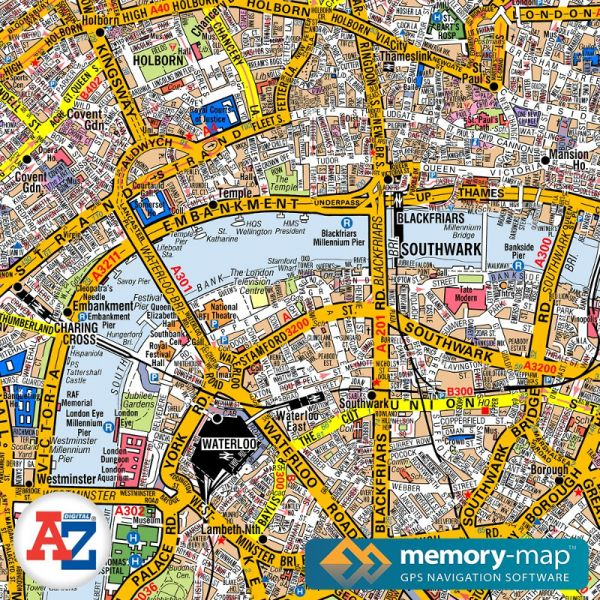 A-Z Greater London (Memory-Map)