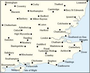 os road map 8 south east england including london