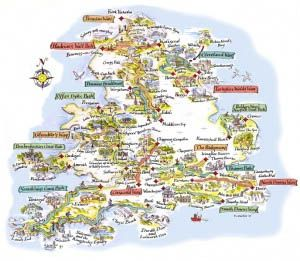 Map Of England And Wales Walking Routes LDWA Long Distance Paths - Map out walking distance