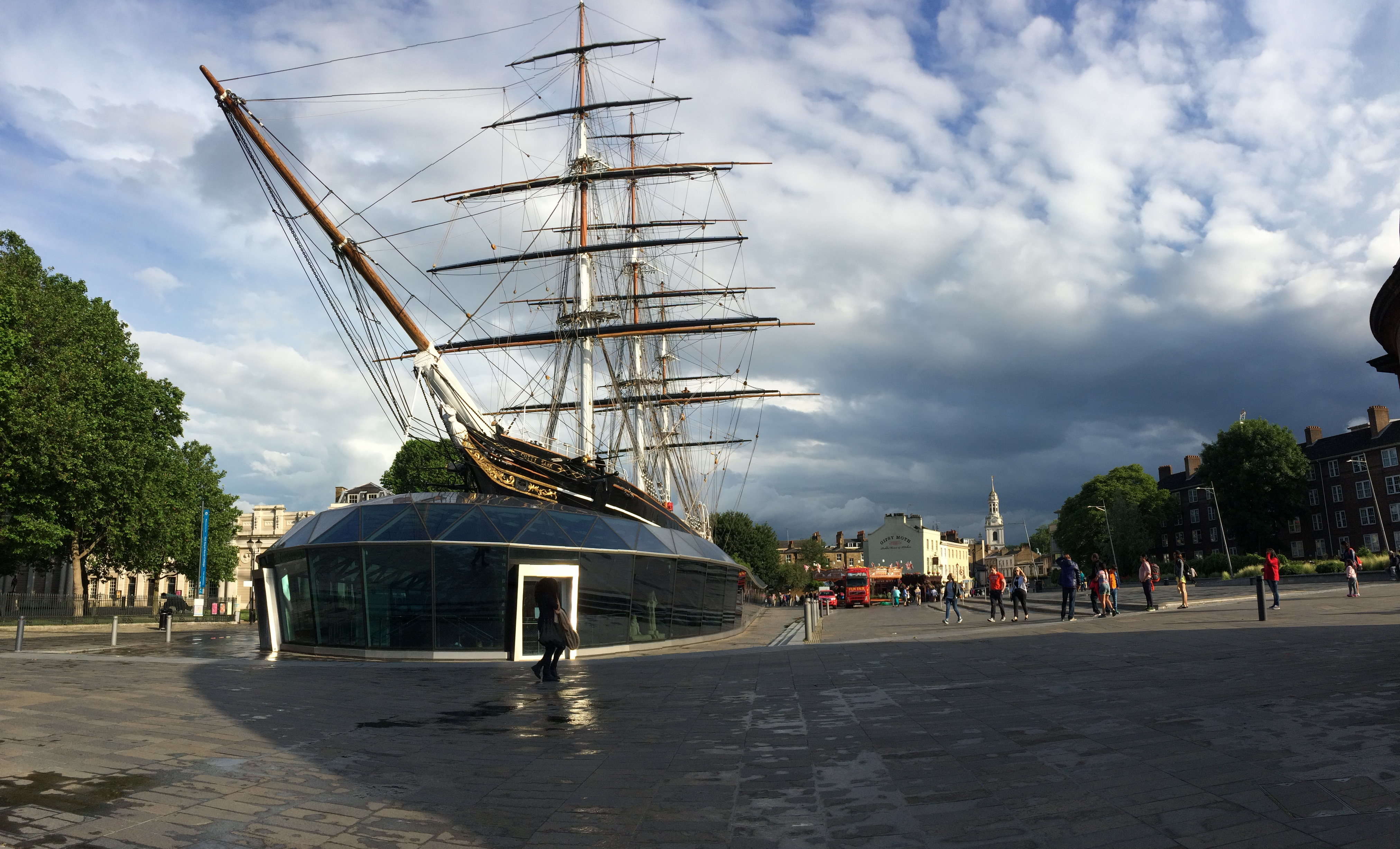 Cutty Sark in dry dock at Grewenwich