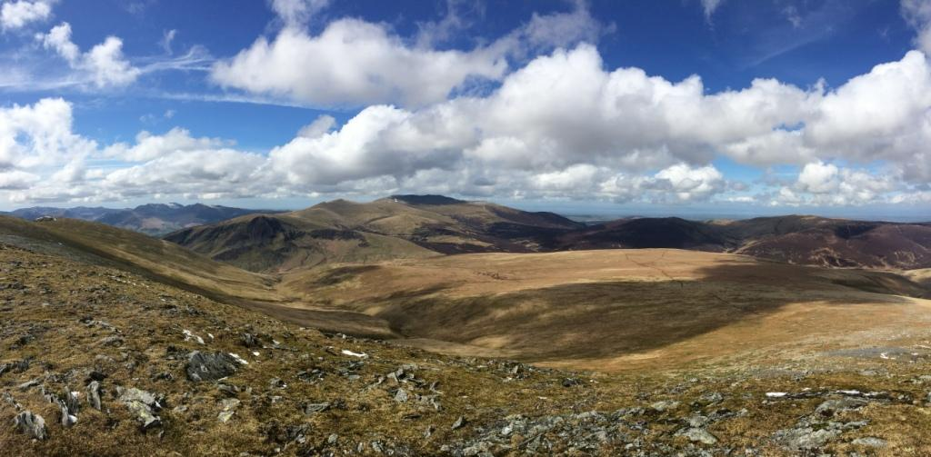 View from the top of Blencathra, Lake District
