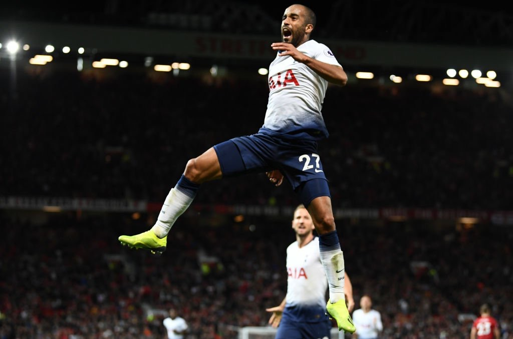 lucas moura old trafford