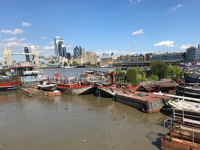 collection of barges thames