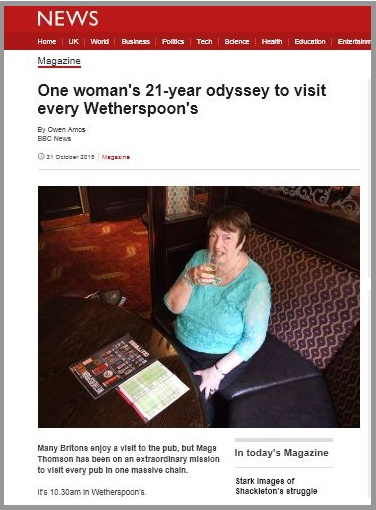 BBC News Wetherspoons lady