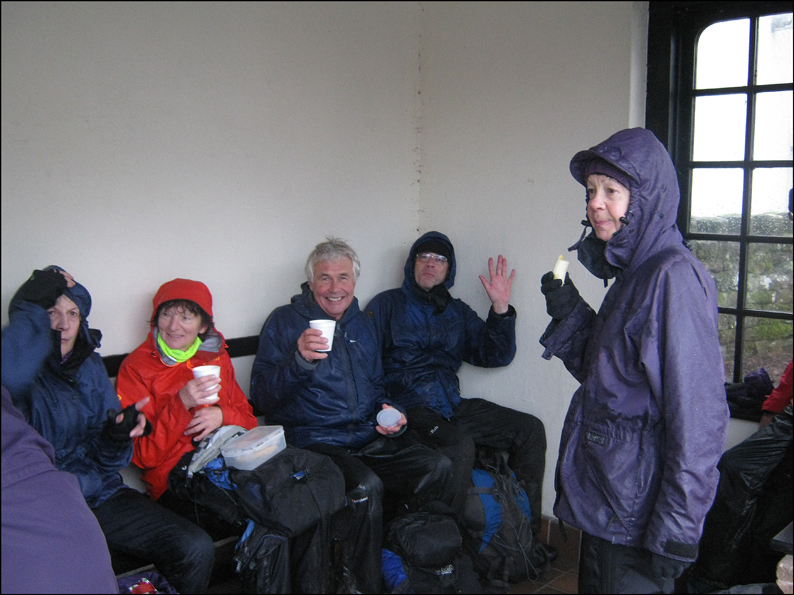 COFFEE IN A POOLEY BRIDGE BUS SHELTER!