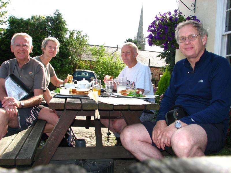 LUNCH AT DAWNAY ARMS, NEWTON-ON-OUSE