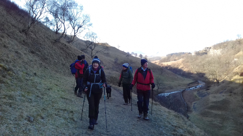 Approaching the Smardale viaduct