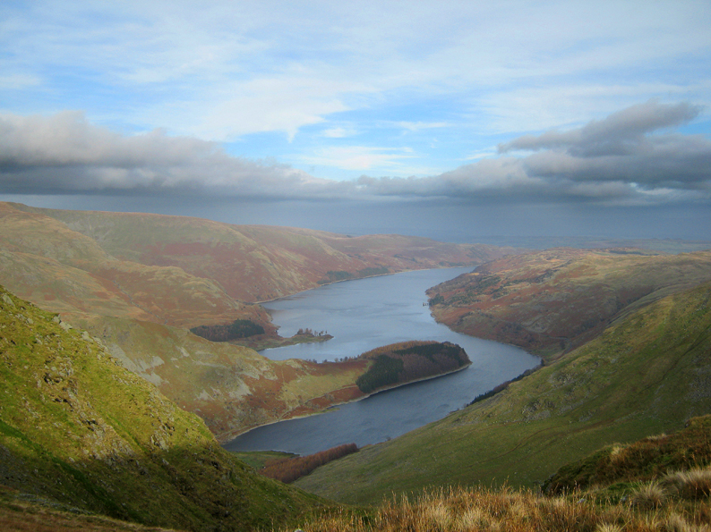 HAWESWATER FROM ABOVE HARTER FELL GULLY