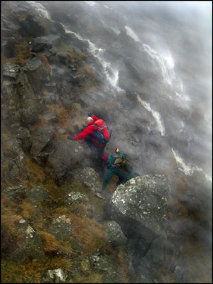 12. ASCENDING HIGH CUP NICK, NORTHERN PENNINES - who said Ramblers don't have any fun!