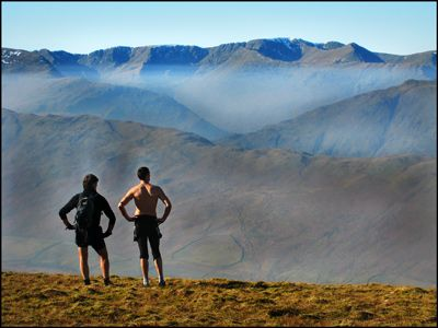 4. HELVELLYN FROM WETHER HILL - but surely not LDWA ers!