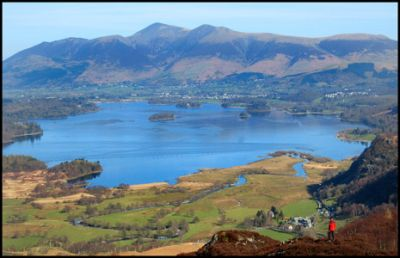 38.DERWENT WATER & SKIDDAW FROM GRANGE FELL