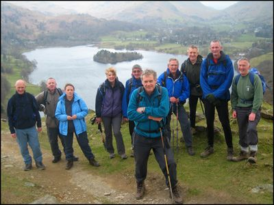 1. THE GANG ON LOUGHRIGG WITH GRASMERE AS BACKDROP