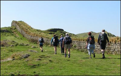 1. ALONG THE WALL ABOVE HOUSESTEADS