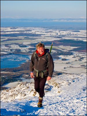 13. IAN LAURISTON ON ULLOCK PIKE, SKIDDAW