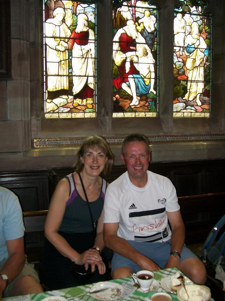 Hilary and John in Rostherne church