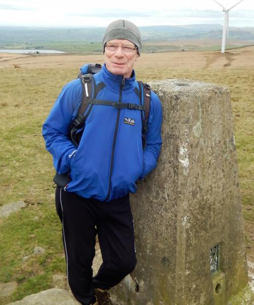 Neil looks supercool at Knowl Hill trig