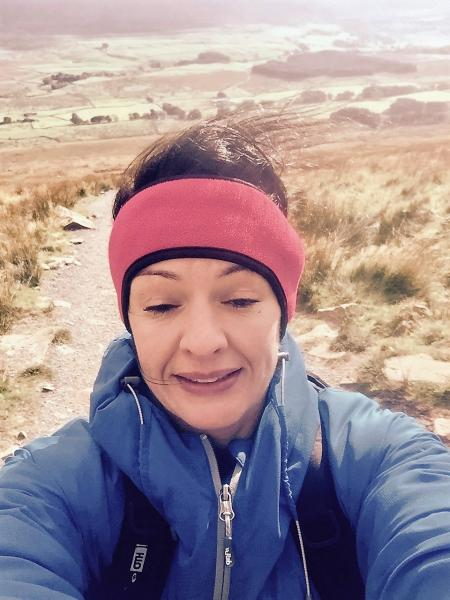 Wind so strong I can hardly open my eyes! Windswept is an understatement - Whernside