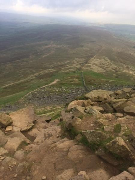 View from the top of Pen Y Ghent