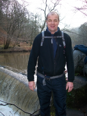 John at Hoghton Weir