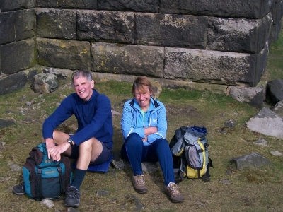 Doreen and Gareth at Stoodley Pike