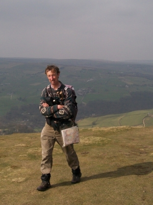 Peter at Stoodley Pike