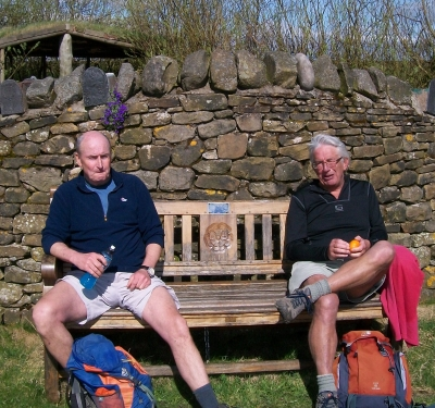 Bill and Phil enjoy the sunshine