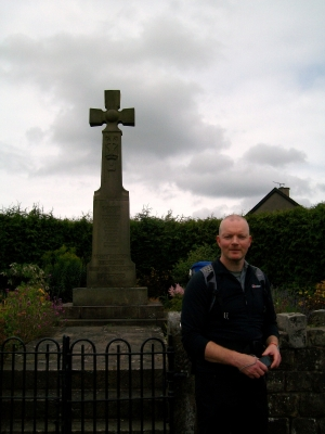 Howard at Dunsop Bridge War Memorial