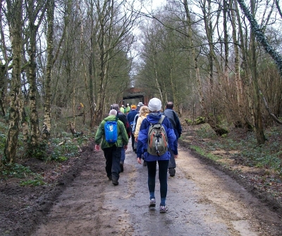 The trek back on old railway line