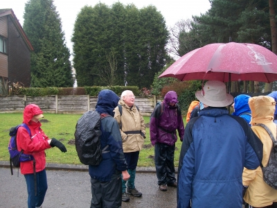 Wardley Cemetery in the rain