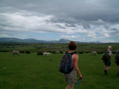 Lynn views the three peaks