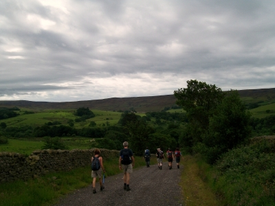 Towards the Bowland Hills