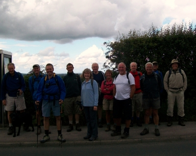 Group near Bay Horse pub