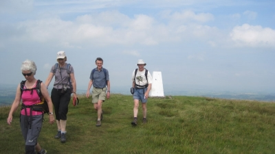 Leaving Weets Trig point