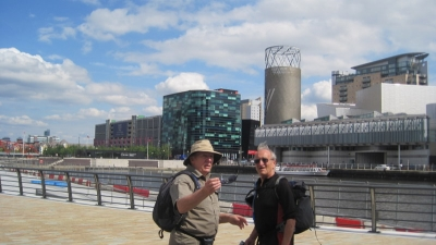 Alan and John at Salford Quays